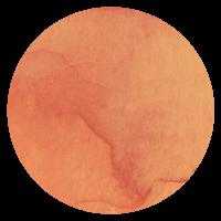 yvresse icon orange watercolor circle